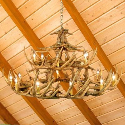 Antler chandelier with 42 points