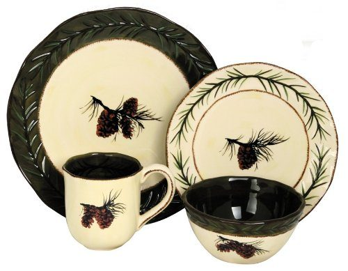 HiEnd Accents pinecone dinnerware