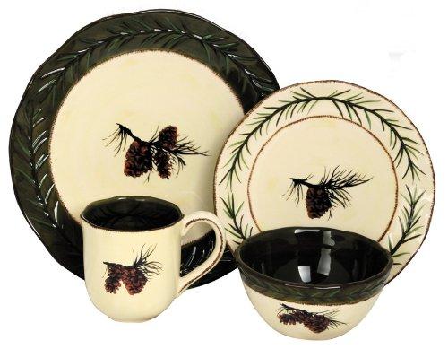 HiEnd Accents pinecone dinnerware