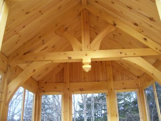 Kings post truss beam