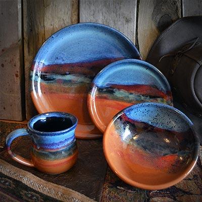 Azul Scape Pottery western dinnerware