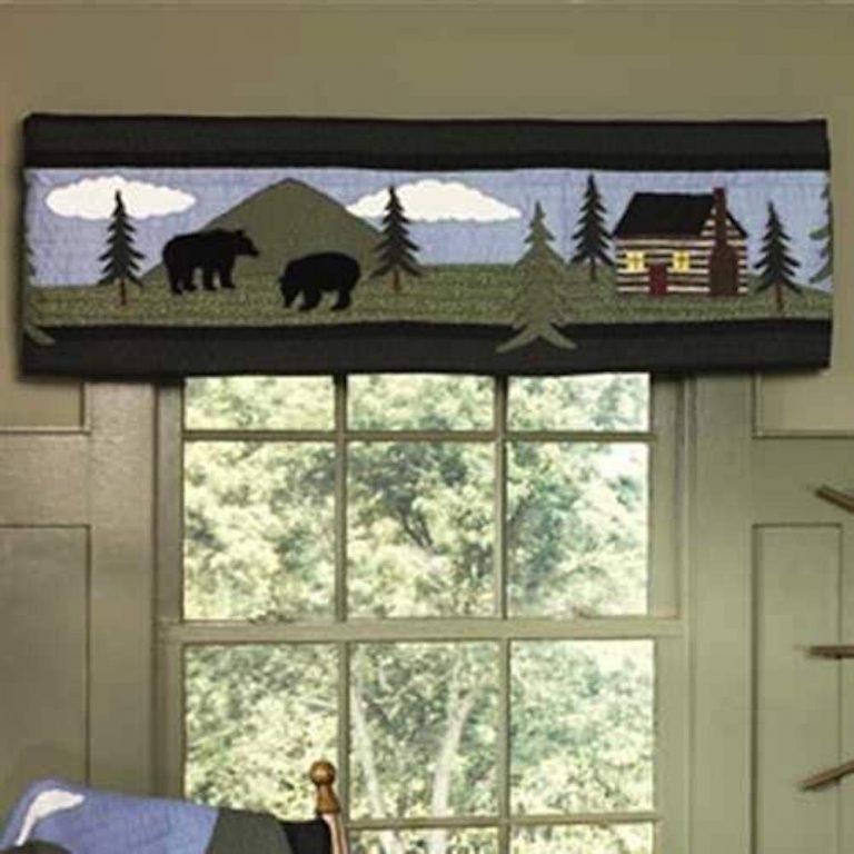Bear Lake curtain valance