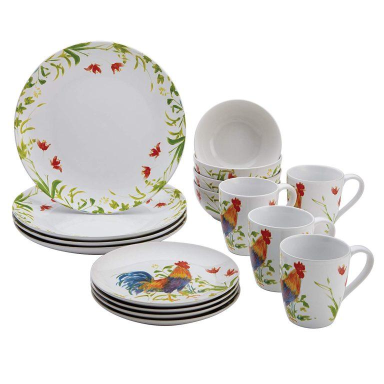 BonJour Meadow Rooster dinnerware