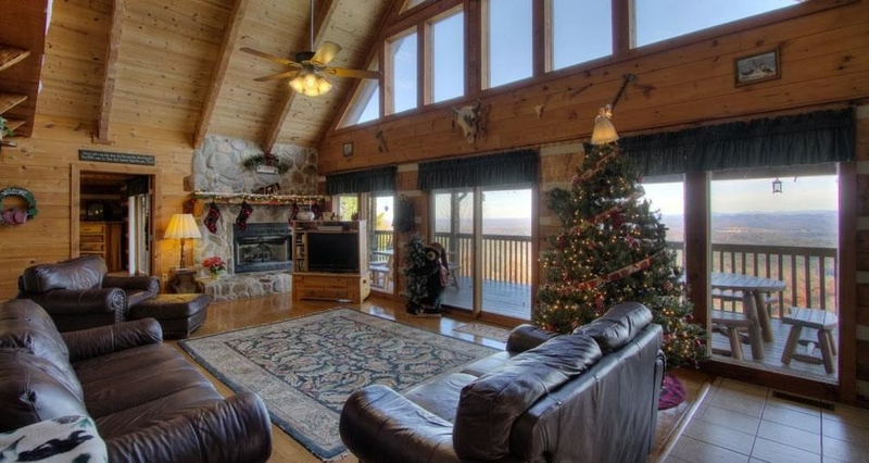 Cabin life in a lovely log home