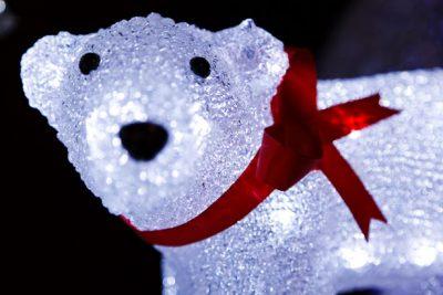 Polar bear Christmas lawn decoration