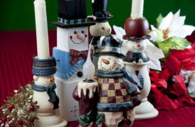 Snowmen centerpieces