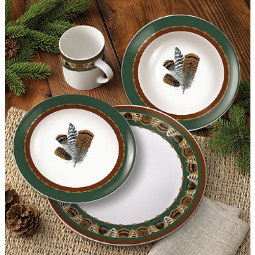 Feathers dinnerware 16 piece set
