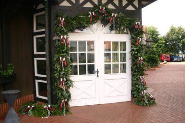 Christmas garland around doors