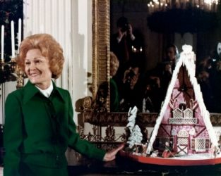 first White House gingerbread house with Pat Nixon