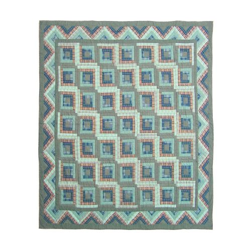 Patch Magic green log cabin quilt