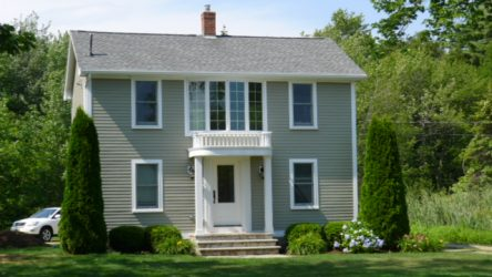 This structural insulated home has vinyl siding