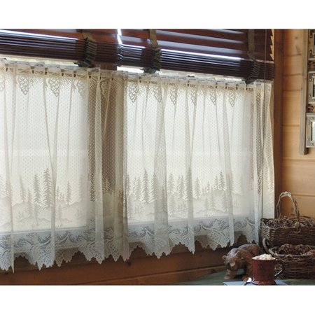 Loon Peak Lakewood tier lace curtains