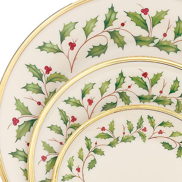 Lenox 12 piece holiday dinnerware set