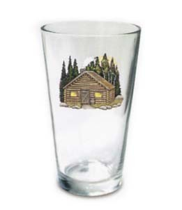 Log cabin tapered beer glass