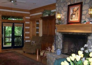 Log home lighting sconces