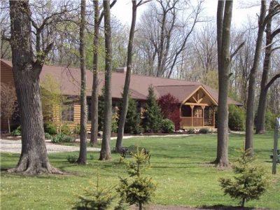 Log cabin ranch home