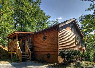 log siding on house