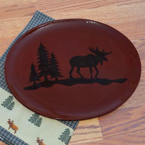 Woodland River Moose stoneware