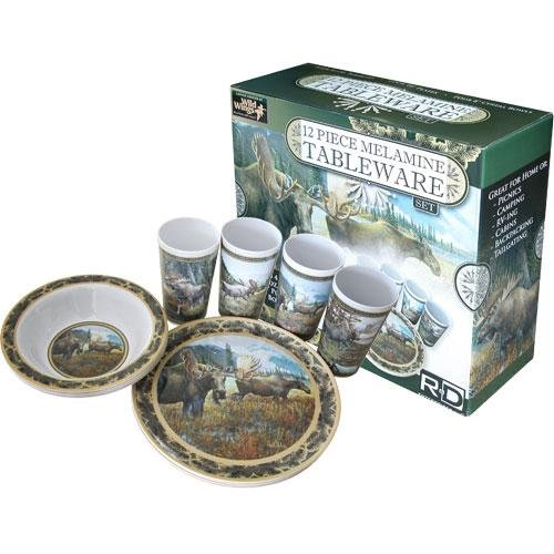 Majestic Moose melamine dishes with box