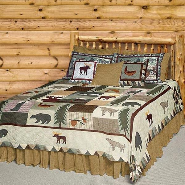 Patch Magic Mountain Whispers quilt on a bed