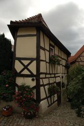 Narrow house in Bad Wimpfen Germany