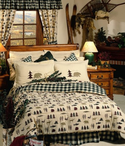 Northern Exposure comforter on a bed