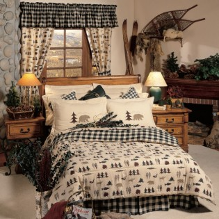 Northern Exposure bedding set with matching curtains