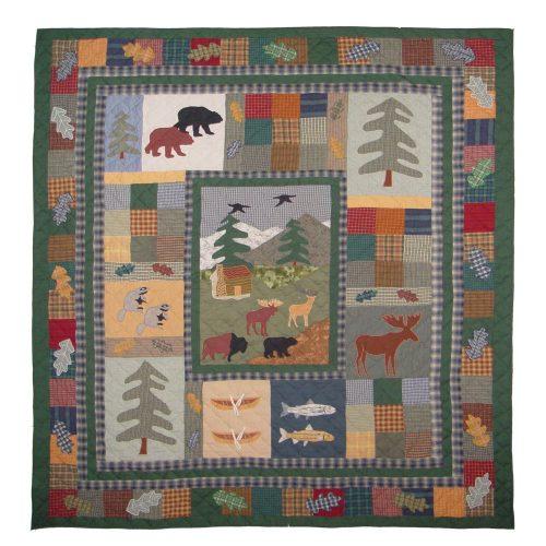 Colorful Northwoods Walk quilt
