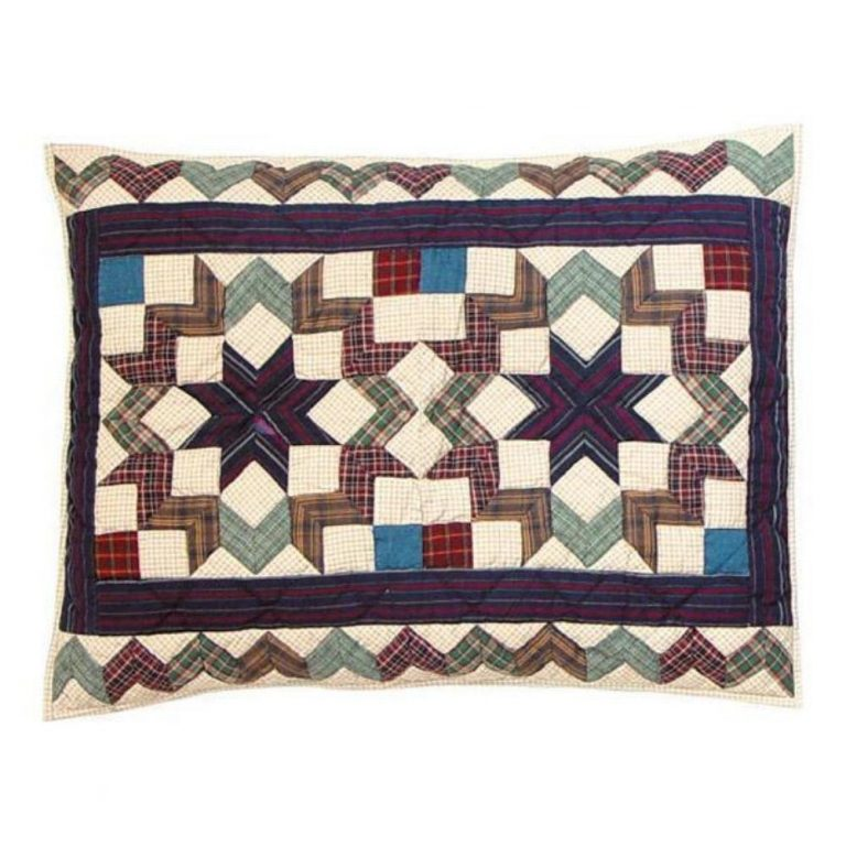 Traditional quilted Patch Magic pillow sham
