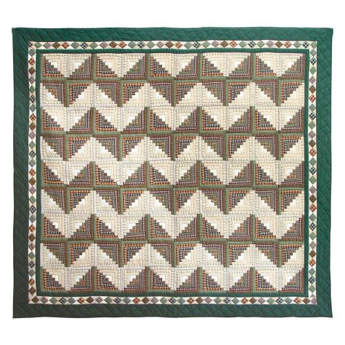 colorful Patch Magic log cabin quilt