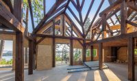Post and beam home under construction