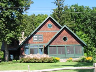 outside of post and beam house