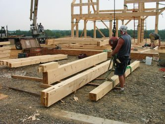 Pre-cut joints for timber frame