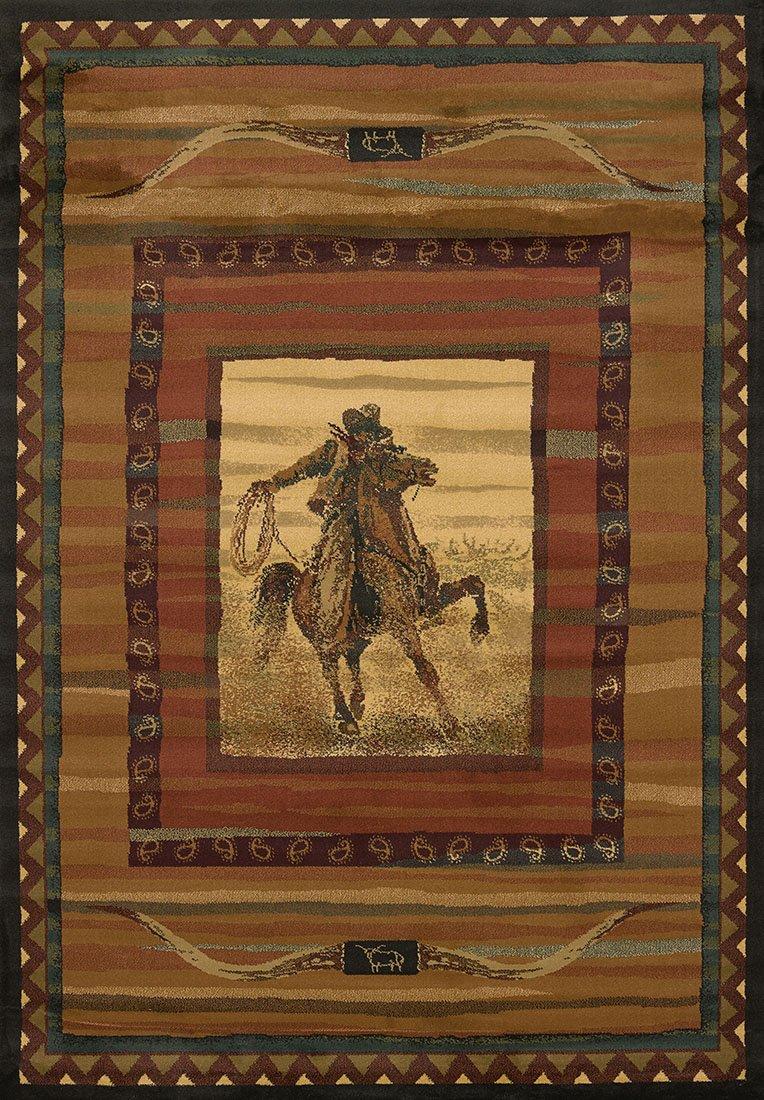 United Weavers Rawhide Cowboy Rug Everything Log Homes