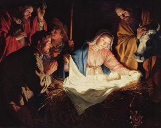 Realistic nativity scene