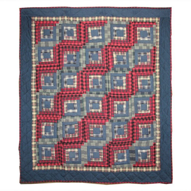 Patch Magic red log cabin quilt