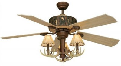 deer antler ceiling fan