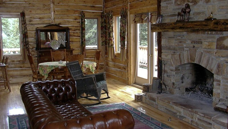 Rustic decor in western theme log home