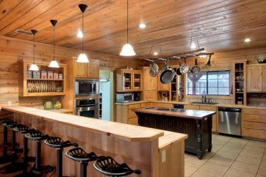 log home kitchen storage
