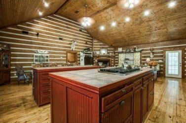 log home kitchen design that is too open