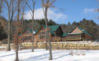 Rustic log home in wooded setting