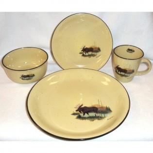 Rustic Moose dinnerware