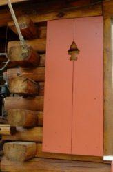 barn red rustic shutters
