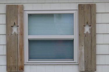 Star cut outs in shutters