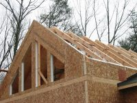 Structural insulated panels in house under construction