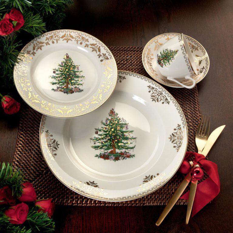 Spode Christmas Tree Gold Dinnerware