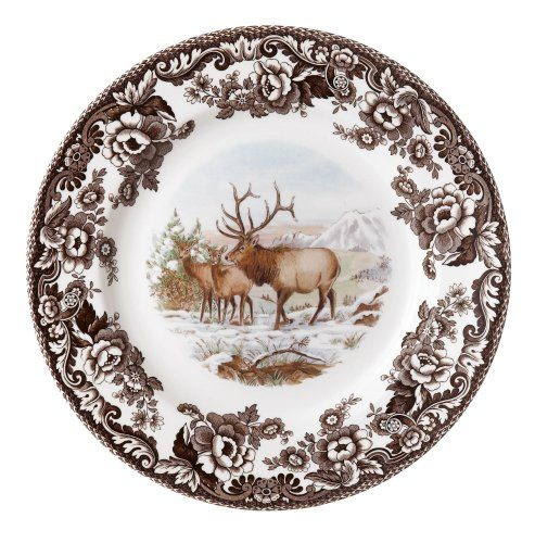 Plate with elk from the Spode Woodland Collection