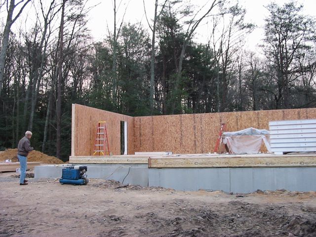 Structural insulated panels in a home construction
