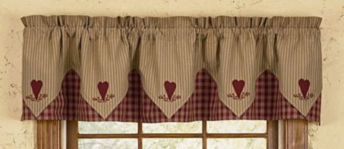 Sturbridgewine plaid valance