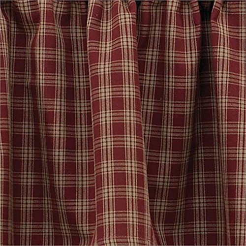 Sturbridge wine plaid curtains